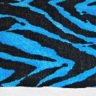 Zorina Zebra Turquoise Ceiling Fan