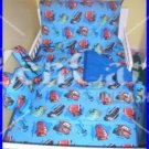 Disney pixar cars 5pc blue toddler bedding set