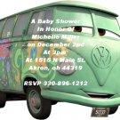 Disney Pixar Cars Philmore Baby Shower Invitations