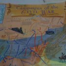 RARE Commemoreative Map Campaigns of the Civil War 1961 C.S.Hammond