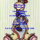 Bazooples baby shower invitations