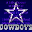 Dallas Cowboys baby shower invitations