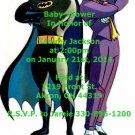 Batman baby shower invitations