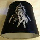 Handmade black and white Batman Lampshade