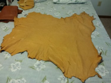 Leather deerskin hide