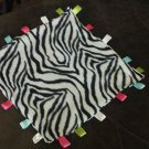 Zebra Fleece Tab Blanket