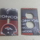 Broncos Set of 5 Light Switch Outlet Covers