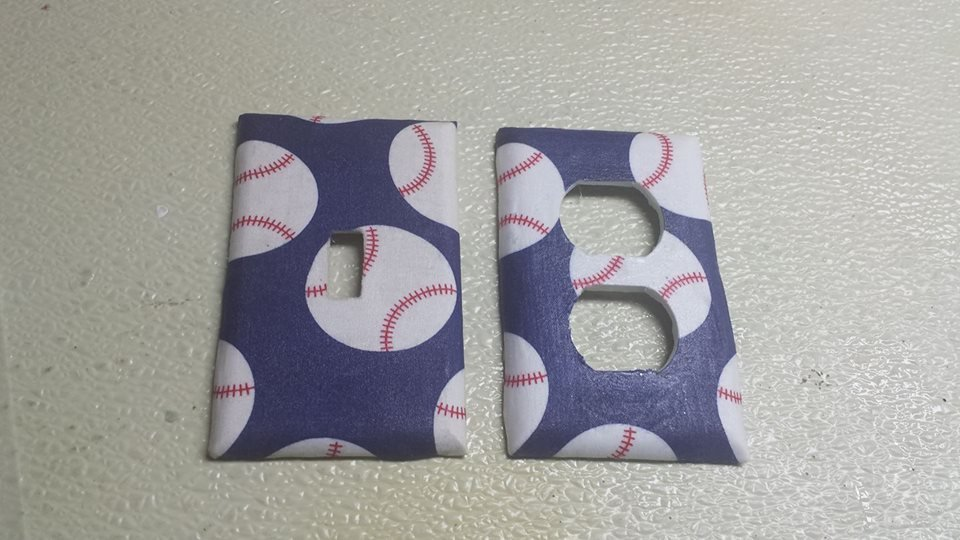 Baseball Set of 5 Light Switch Outlet Covers