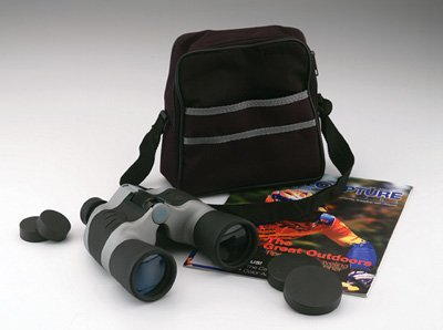 Magnacraft 10 x 50 Black and Gray Binocular with case.
