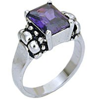 Amethyst CZ Solitaire / Size 7