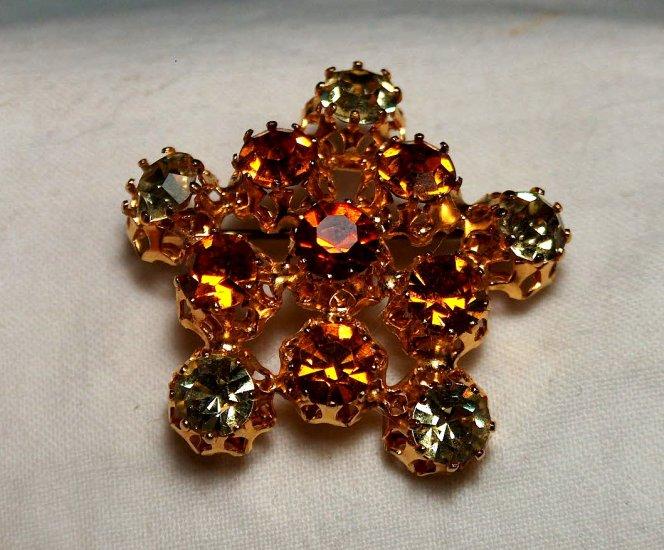 Rhinestone Star Brooch