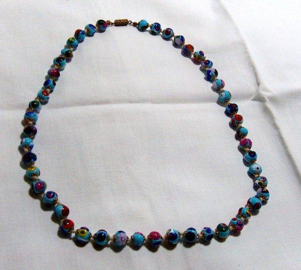Vintage Italian Millifiori Necklace