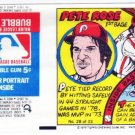 1979 Topps Test Issue Uncut Comic Baseball Wrapper Pete Rose Cincinnati Reds