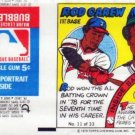 1979 Topps Test Issue Uncut Comic Baseball Wrapper Rod Carew Angels/Twins