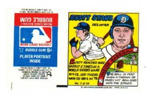 1979 Topps Test Issue Uncut Comic Baseball Wrapper Rusty Staub Mets/Tigers