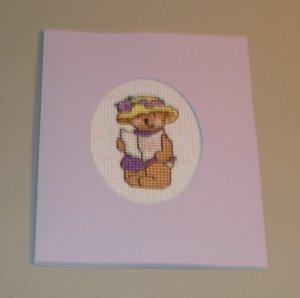 Adorable Bear Cross Stitch Card