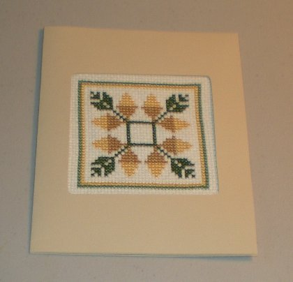 Acorn Sampler Cross Stitch Card