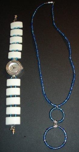 Blue Hawaii Watch & Necklace Set
