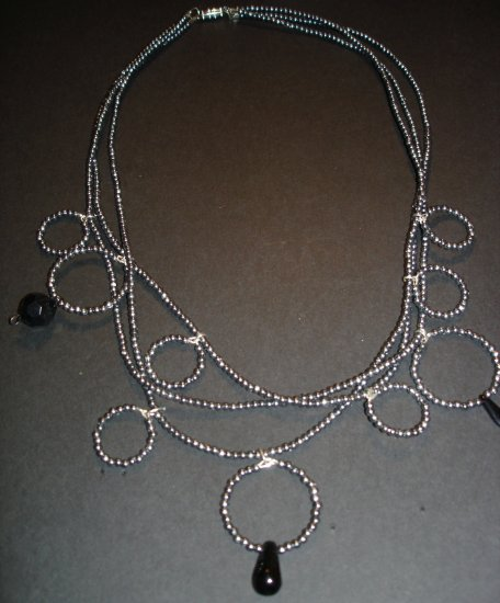 Silver Fossi Beaded Necklace