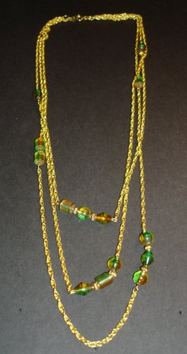 Tones Beaded Gold Necklace
