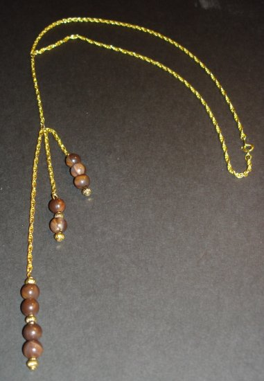 Gold & Chocolate Necklace