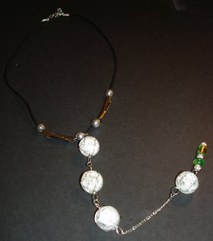 Clear Shattered Globes & Tones Necklace