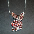 Silver & Red Playboy Bunny