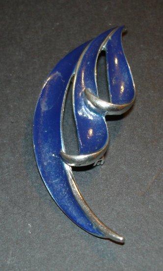 Blue Streams Brooch