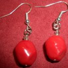 Red Boulder Earrings