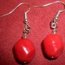 Red Boulder Earrings