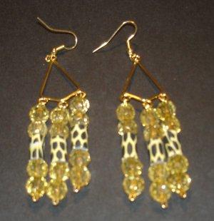 Gold & Leopard Chandelier Earrings