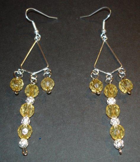 Silver & Gold Beaded Earrings