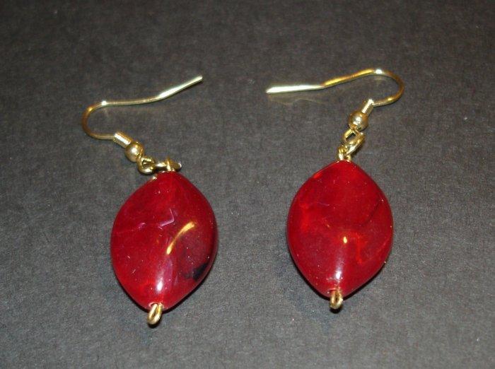 Red Ovals Earrings