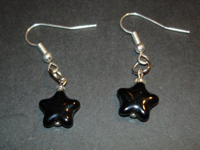 Black Star Power Earrings