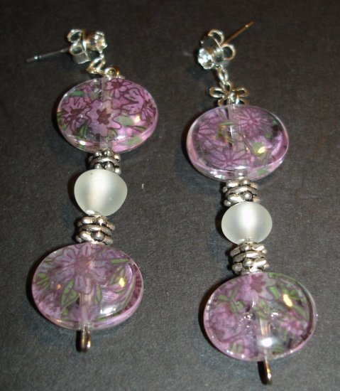 Pink Flower Power Earrings