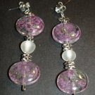 Pink Flower Power Earrings
