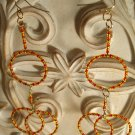 Fire Circles Dangle Earrings