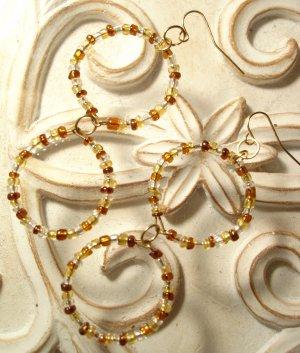 Earth Circle Dangle Earrings