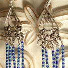 Silver Ocean Dangles Earrings