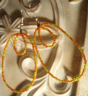Orange & Yellow Ovals Earrings