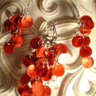 Red Shells Dangle Earrings & Pendant Set