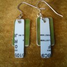 Green & White Credit Card Earrings