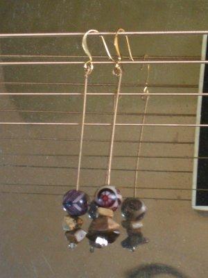 Simple Guitar String Earrings