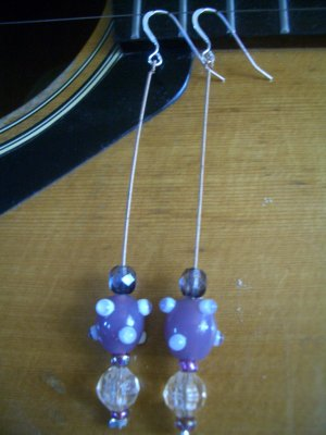 Long Strand Guitar String Earrings