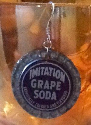 Vintage Grape Pop Cap Earrings