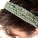 cotton block headband in avocado green.