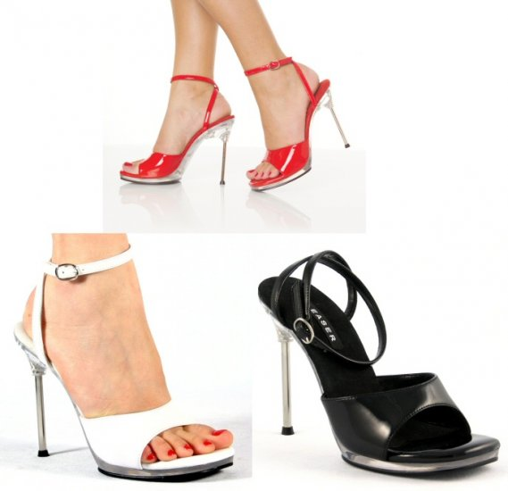 """Chic"" - Women's Stiletto Open Heel Shoes with Ankle Strap"