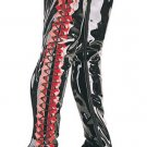 Seduce - Women's Thigh High Lace Up Boots with Side Lace Up and Contrasting Seam