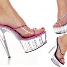 Cover Girl - Women's Platform Heels with Piping