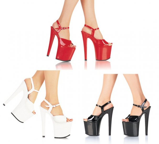 Uptown - Women's Platform Shoes with Ankle Strap and Spike Heels